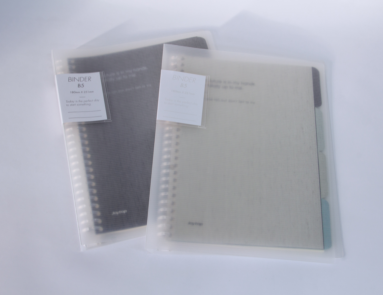 Joytop Loose-Leaf B5 Notebook in Matte Clear Cover